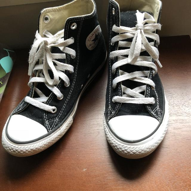 6ba8b3337923 Find more Boys Size 3 Black Converse Shoes No Delivery for sale at ...