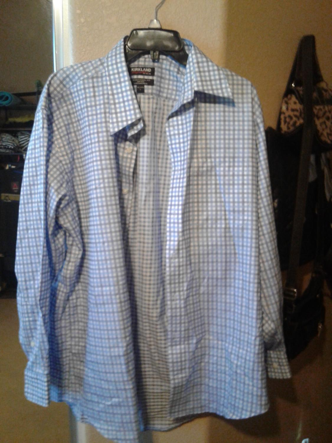 Find More Brand New Mens Dress Shirt From Costco Size L 3 For Sale