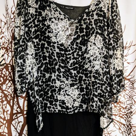 644fc4790e9a5 Maurice s brand animal print three-quarter sleeve top women s plus size 3x