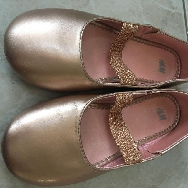 6ab534aae1c Find more H m Kids Ballerina Flats In Rose Gold Sz 12-gently Used ...