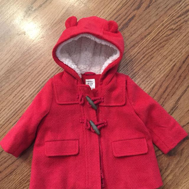 324b66d90 Find more New Red Baby Gap Faux Fur Lined Winter Jacket Size 0-6 ...