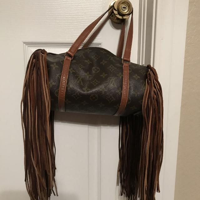 Best Authentic Louis Vuitton Boho Fringe Purse For Sale In Ardmore