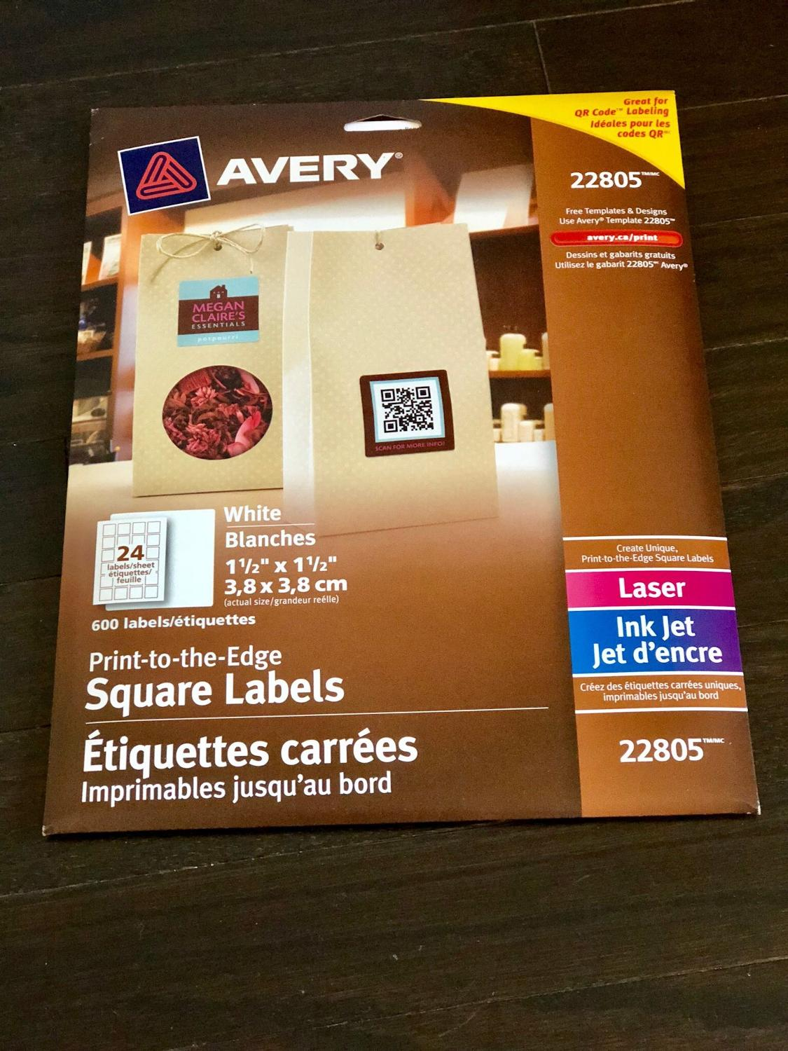 find more brand new avery square labels 22805 for sale at up to 90 off