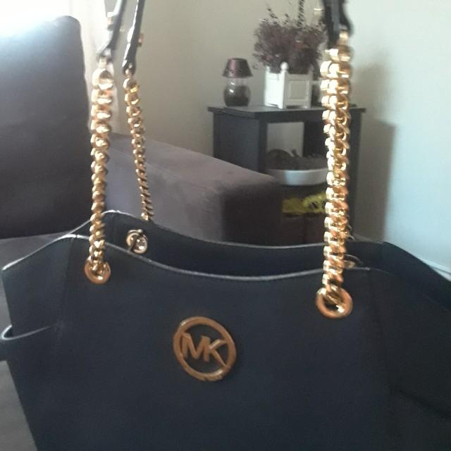 Brand New Leather Michael Kors Navy