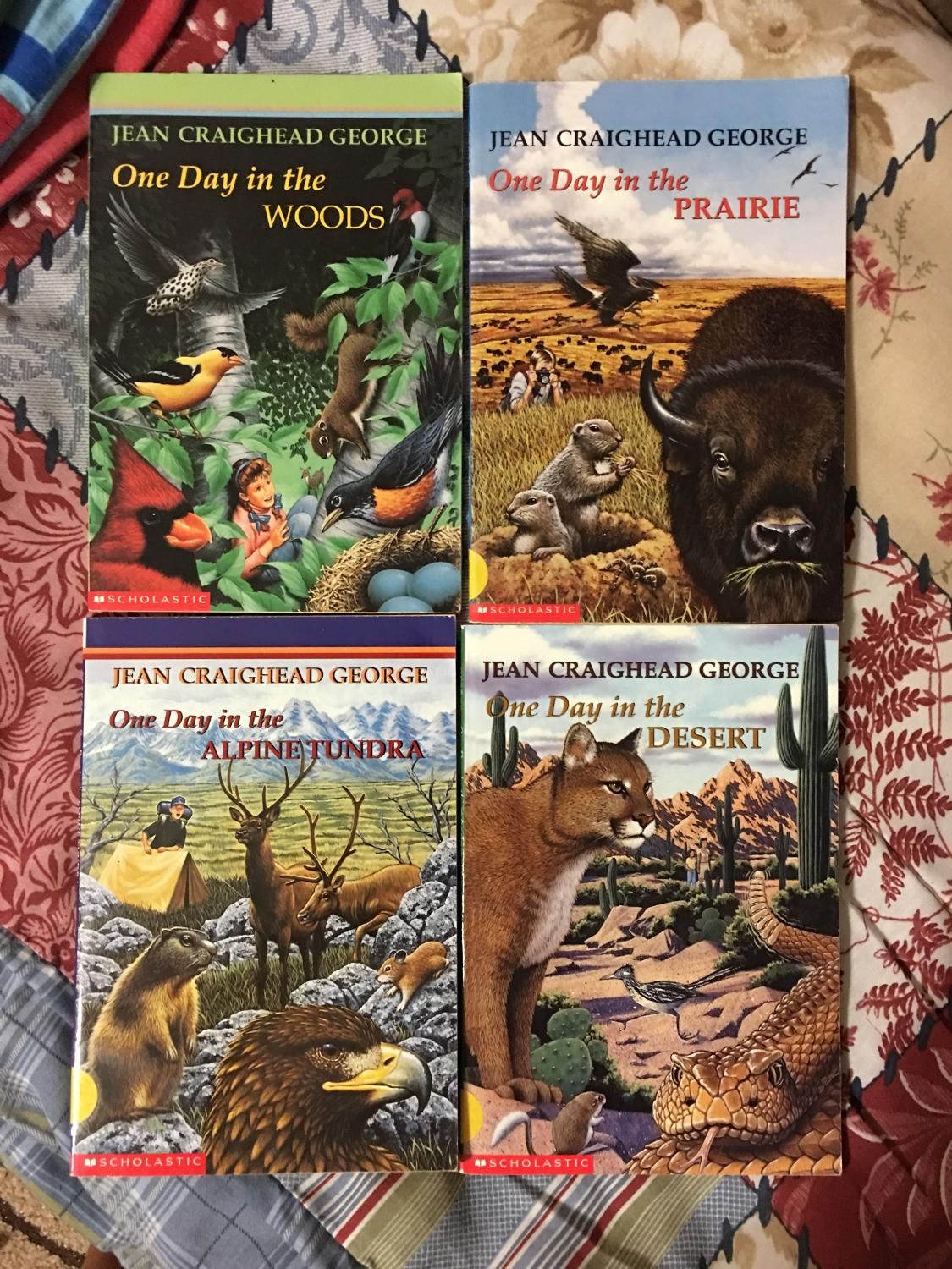 """Best Jean Craighead George - 4 Books -- """"one Day In The Desert, Prairie,  Woods, And Alpine Tundra $2 Each - All For $7 for sale in Hendersonville,  ..."""