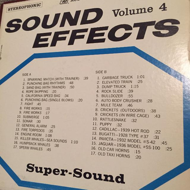 Sound Effects Vol 4 LP