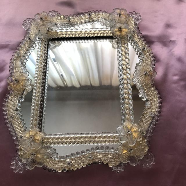 Find More Amazing Large Vintage Venetian Murano Gold Art Glass Mirror For Sale At Up To 90 Off