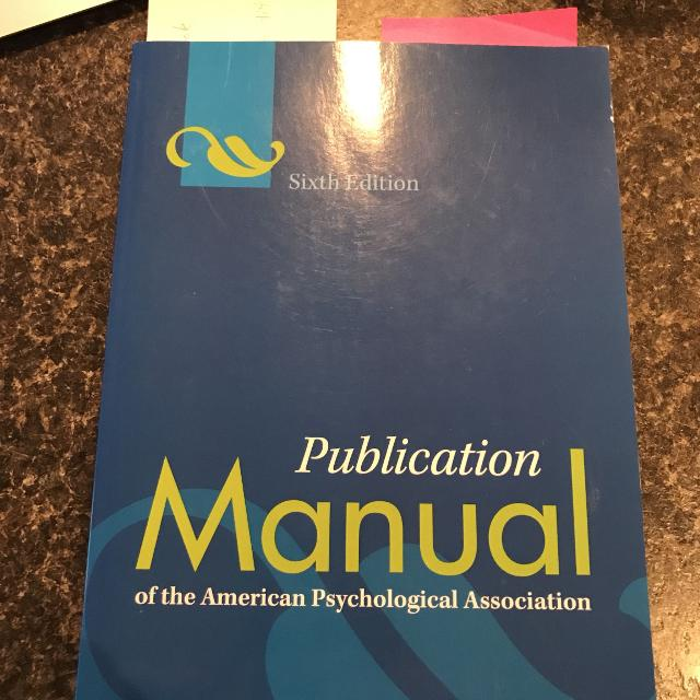 best publication manual 6th edition apa for sale in victoria
