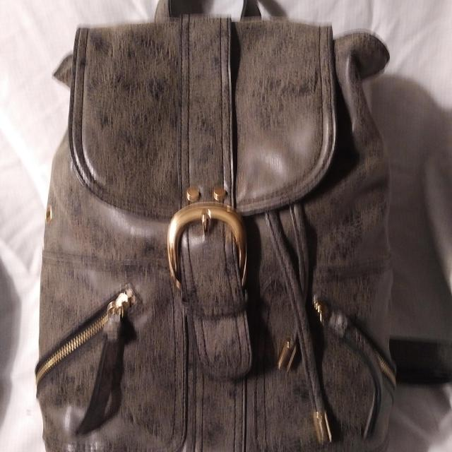 ed70cd3b92a Leather backpack/purse