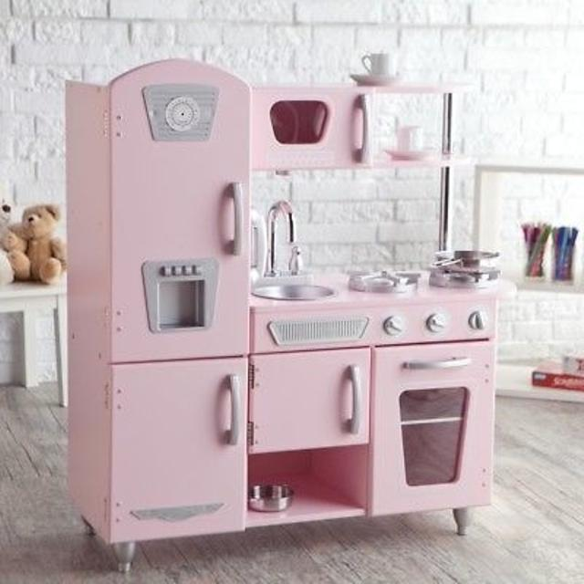 Awesome Pink Kitchen And Tons Of Stuff