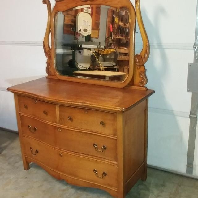 Find More Antique Oak Dresser With Mirror For Sale At Up To 90 Off