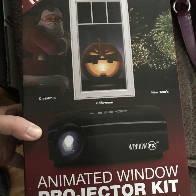 new fx animated window projector kit halloween christmas