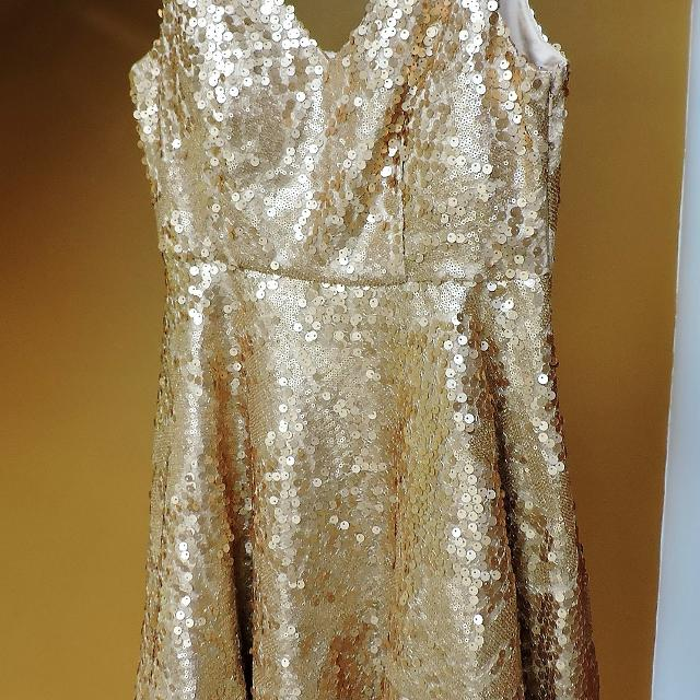 7492500a Best Minuet Gold Sequined (med & Tiny) Dress for sale in Jefferson City,  Missouri for 2019