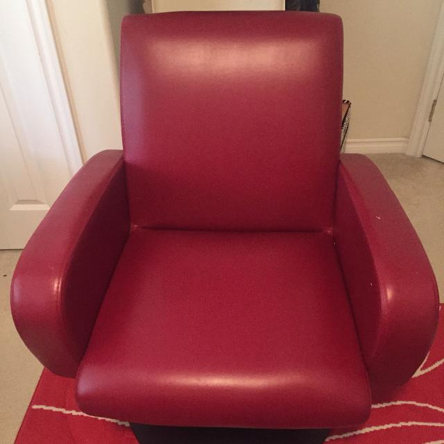 Red Leather Chair From Scan Design