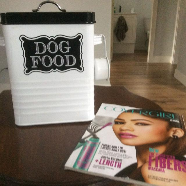 Metal Dog Food container