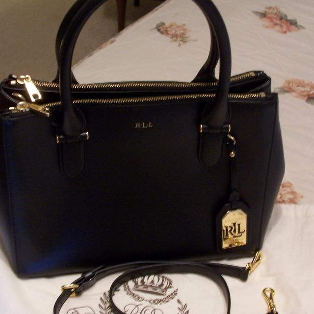 5233ec29f9 Best Ralph Lauren Black Leather Handbag for sale in McDonough, Georgia for  2019