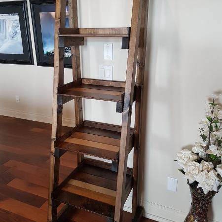 Rustic ladder shelf free-standing, used for sale  Canada
