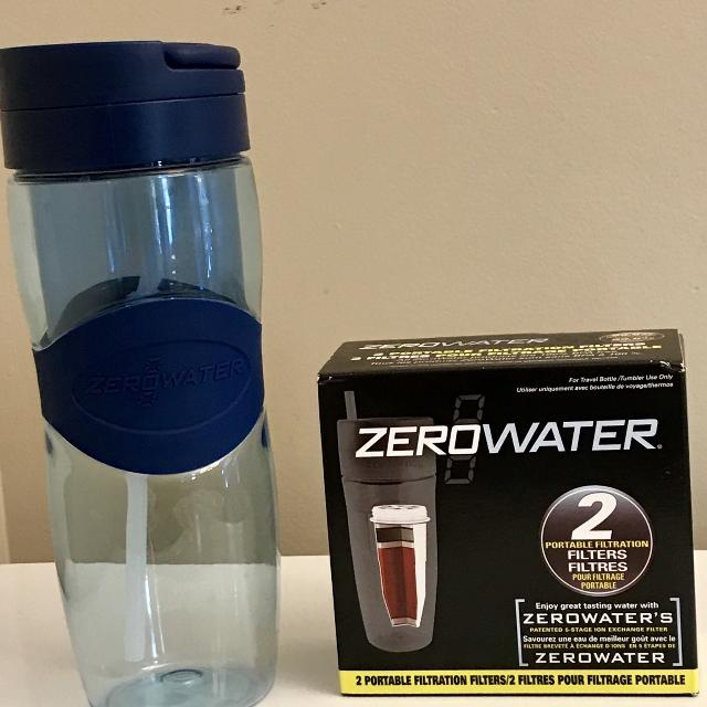 Zero Water water bottle and 2 pk filters
