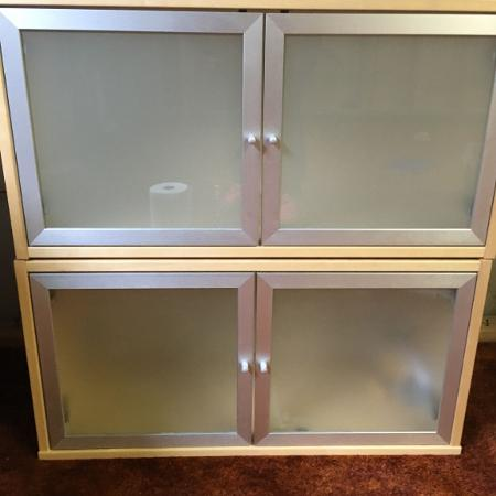 IKEA 2 wall hanging birch cabinets for sale  Canada
