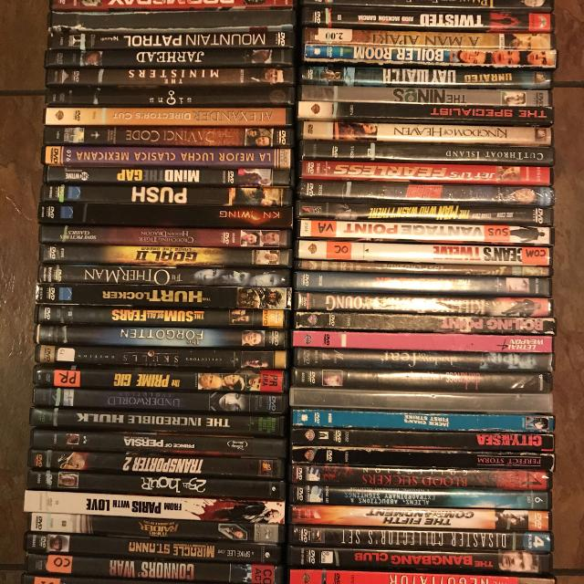 70+ Action/Adventure/Horror Movies on DVD