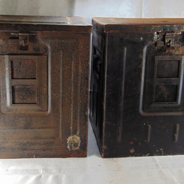 2 world War 2 ammunition boxes, ammo cases