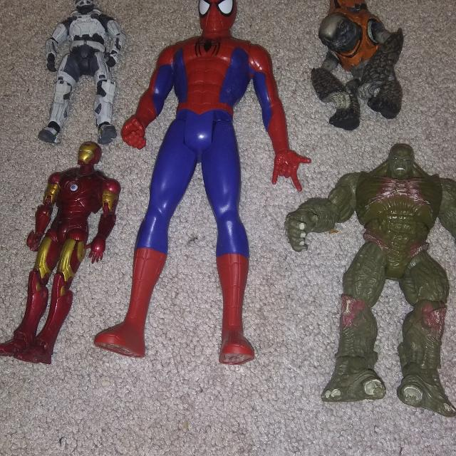 Superhero and Halo toys