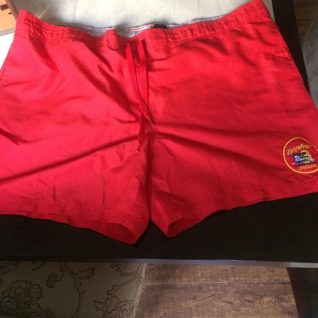 85916d0636 Find more Men's Red Size Xl Swim Shorts. Baywatch for sale at up to ...