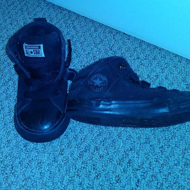 4736c2f051e3 Best Black All Star Converse Shoes Size 9 for sale in Clarington ...