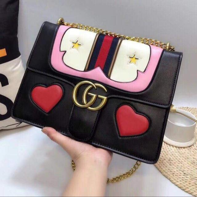 7ae449d980b0 Best Gg Marmont Medium Web Heart Shoulder Bag for sale in Mansfield for 2019