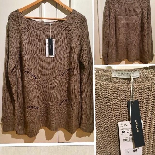 9718f7304f4c Best ⭐z A R A Brand New Tags On Taupe Cotton Knit Sweater In Size Medium  (it s A Large Fitting Medium)⭐ for sale in Etobicoke