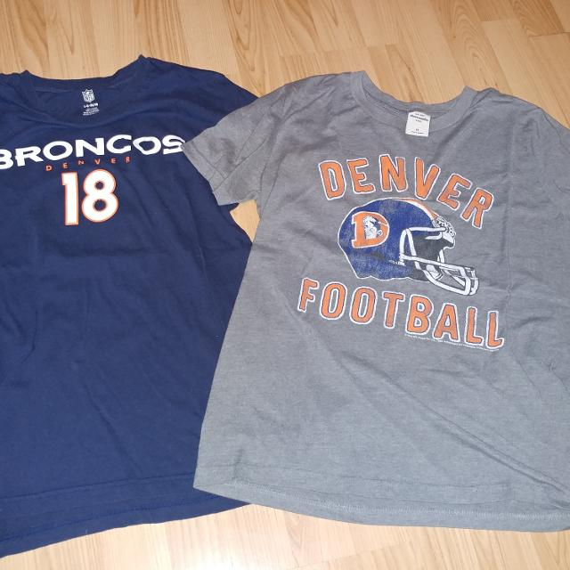 03023336 Denver Broncos t-shirts- $5 for both
