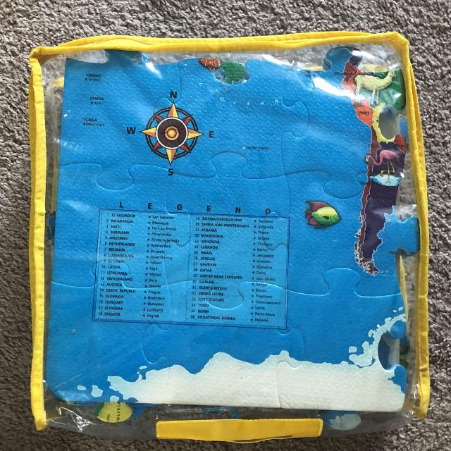 Best Large Foam World Map Puzzle Great Shape for sale in Port Huron ...