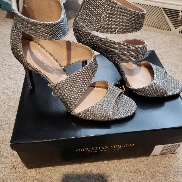 8cfb54bb96c Sz 8 womens Silver Heels-Christian Siriano for Payless