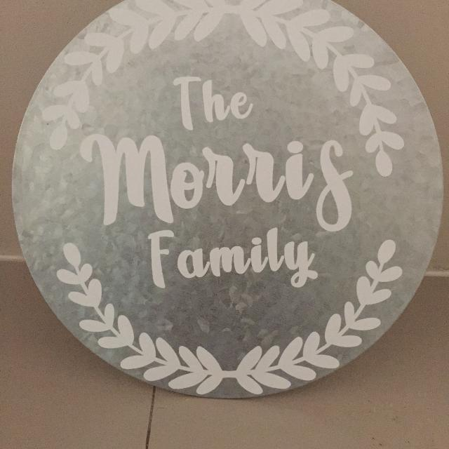 Custom metal round signs