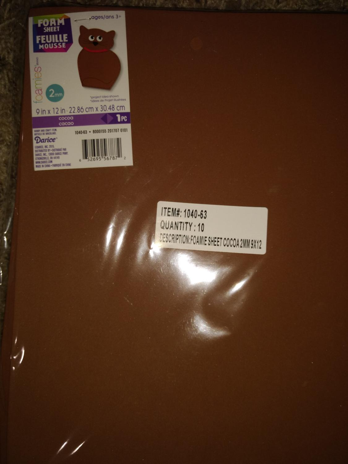 10 sheets of new brown foam