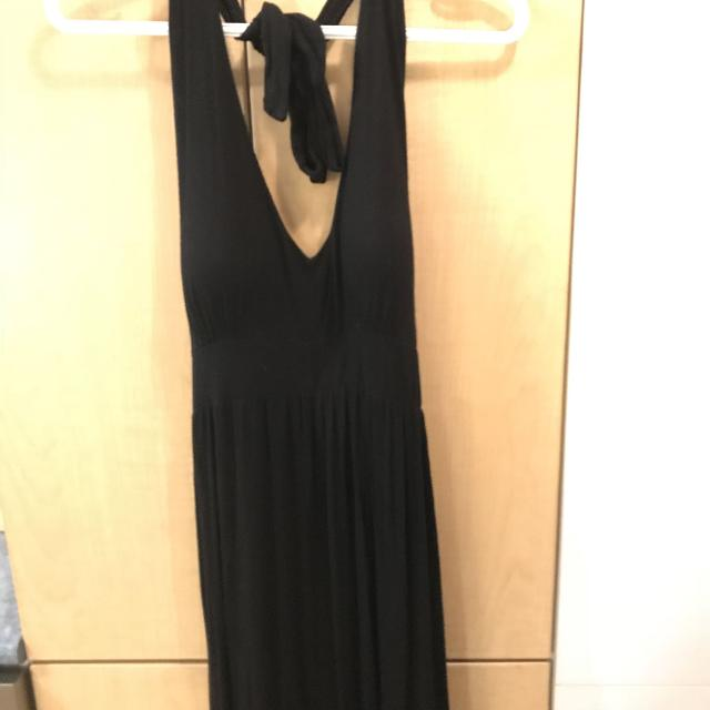 Best Medium Long Black Maternity Maxi Dress With Halter Top For Sale
