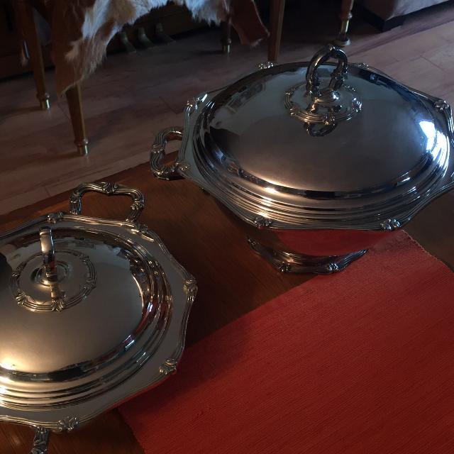 Brazilian/Portuguese Silver Soup Bowls