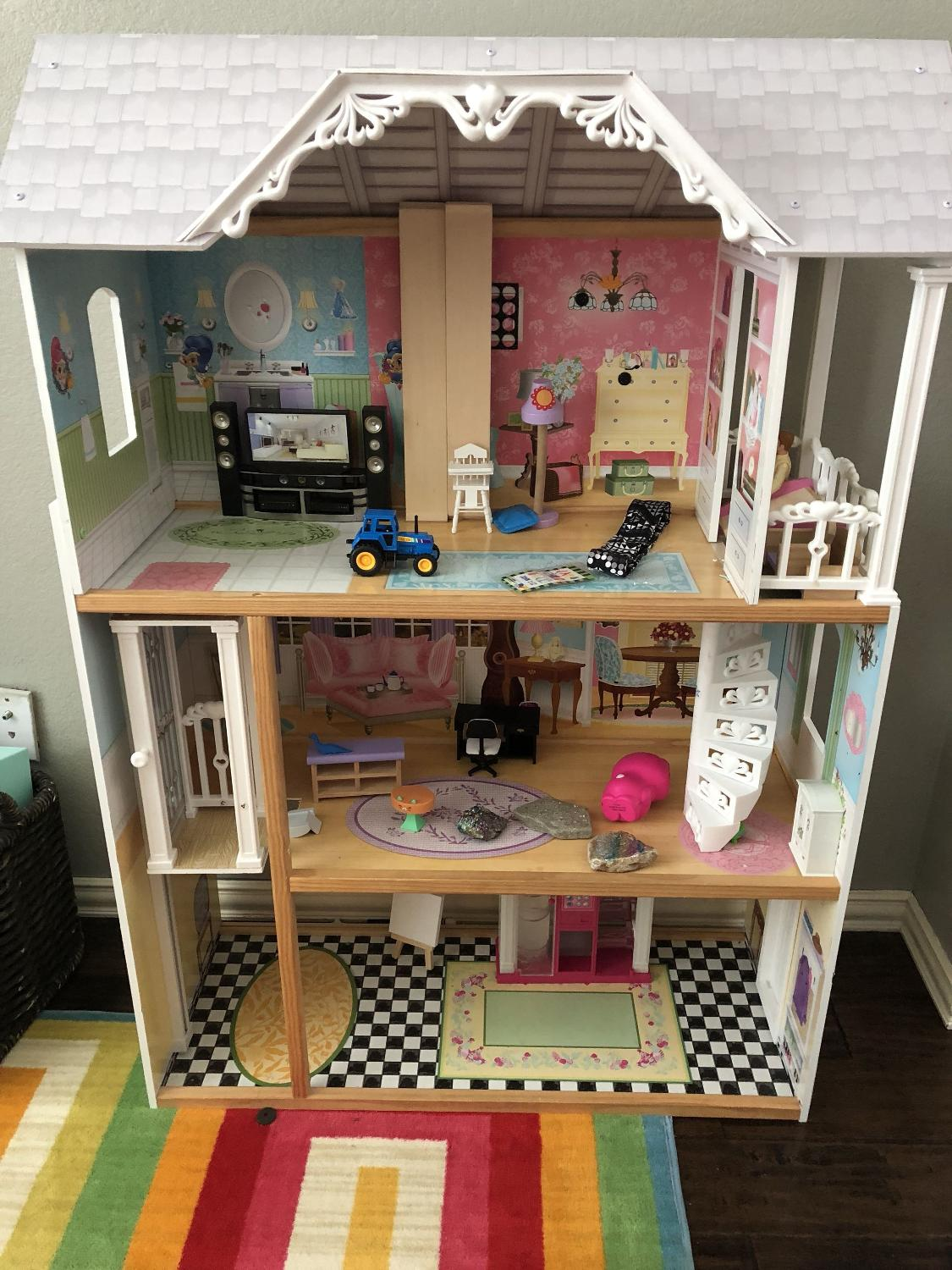 best kidkraft barbie dollhouse for sale in greenville texas for 2019. Black Bedroom Furniture Sets. Home Design Ideas