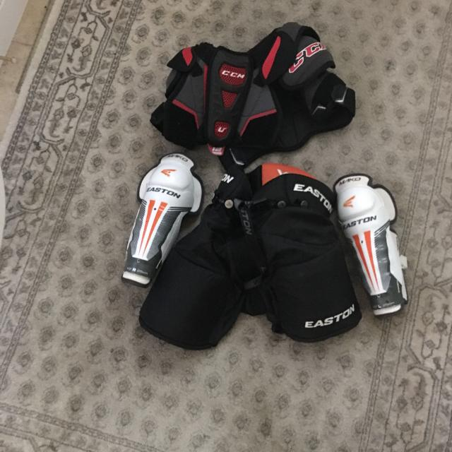 Youth Hockey Equipment- Pants, Shin Guards, Shoulder Pads