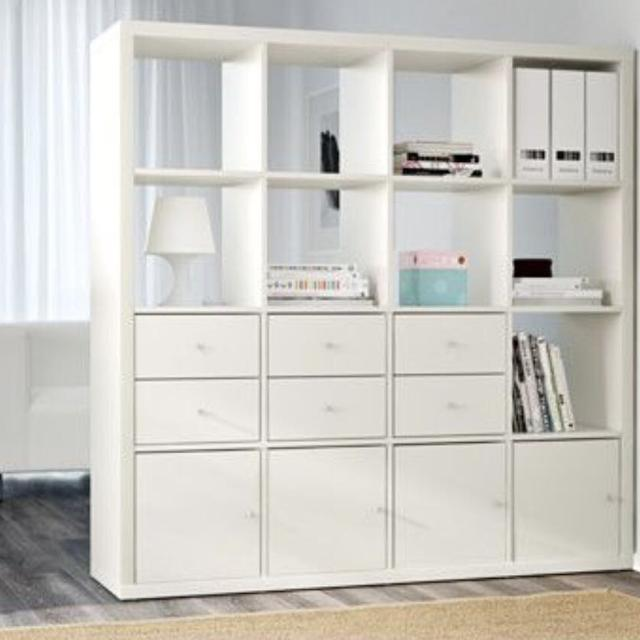 detailed look d9d86 23be8 IKEA kallax shelving unit with doors and drawers