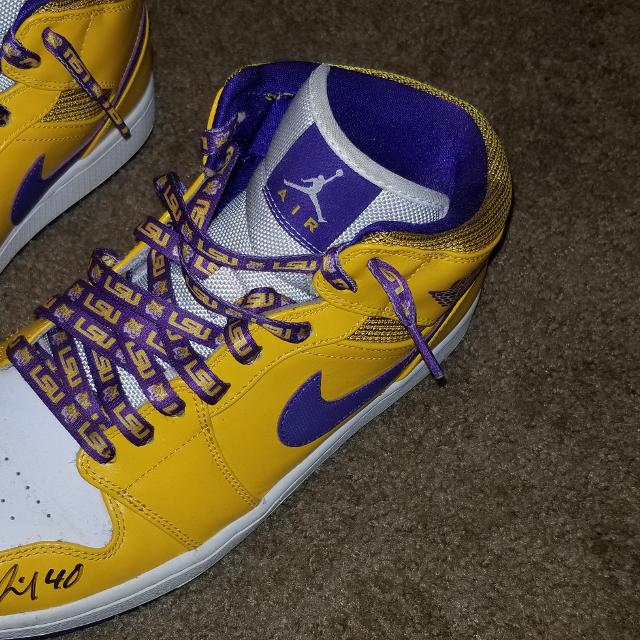 e27e972556c6 Best Autographed Rare Jordan 1 Lakers lsu for sale in Mobile ...