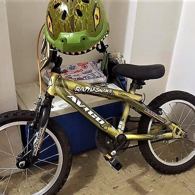Best Avigo 16 Inch Rattle Snake Bmx Bike Boys With Helmet For Sale