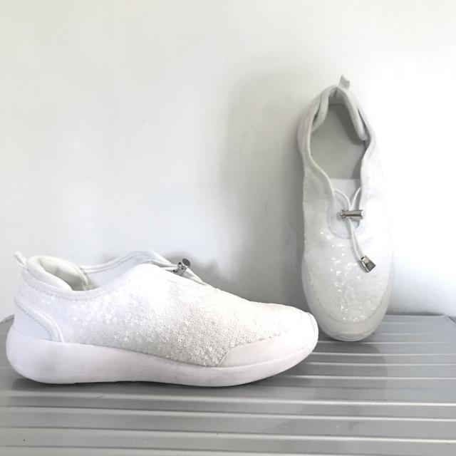 e769028407d06 Best New Zara White Sequin Slip On Sneakers for sale in Scarborough ...