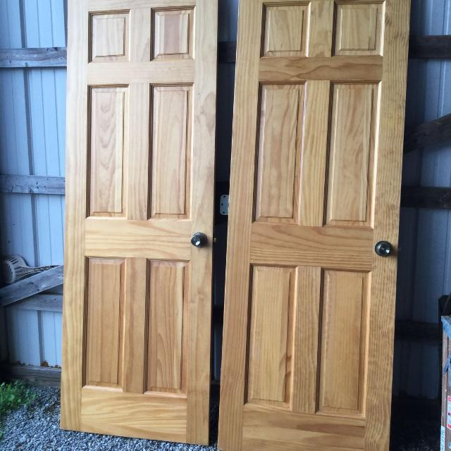 Best Two Solid Interior Wood Doors Both For 2500 For Sale In