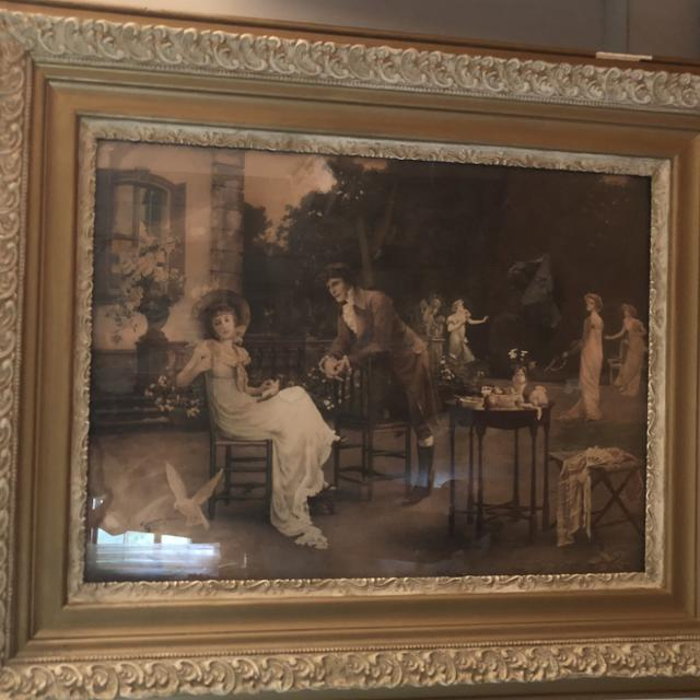 Best Large Antique Print And Frame For Sale In Richmond Virginia