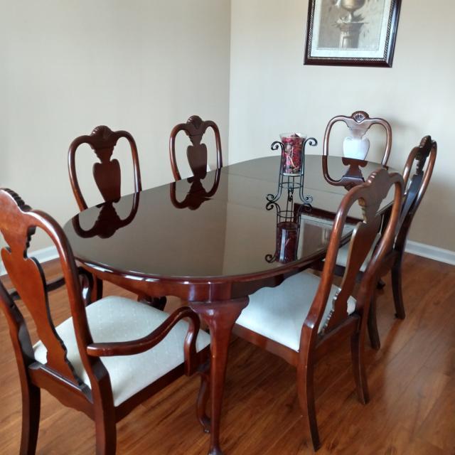 Formal Cherry wood Dining Room Set