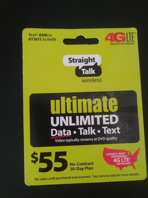 Straight Talk Refill Card
