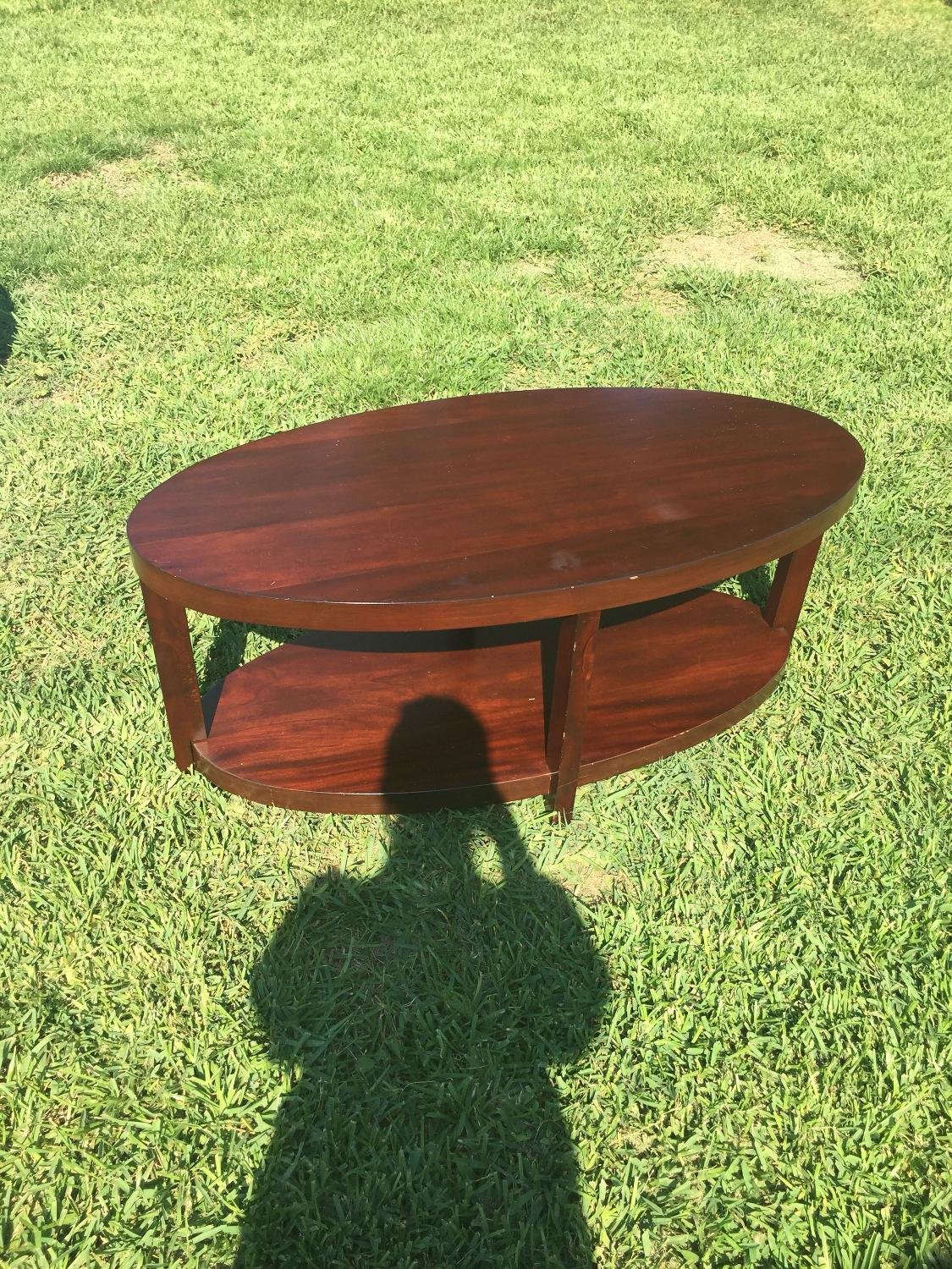 Best Fall Sale: Pier 1 - Oval 2-tier Coffee Table for sale in Metairie, Louisiana for 2019