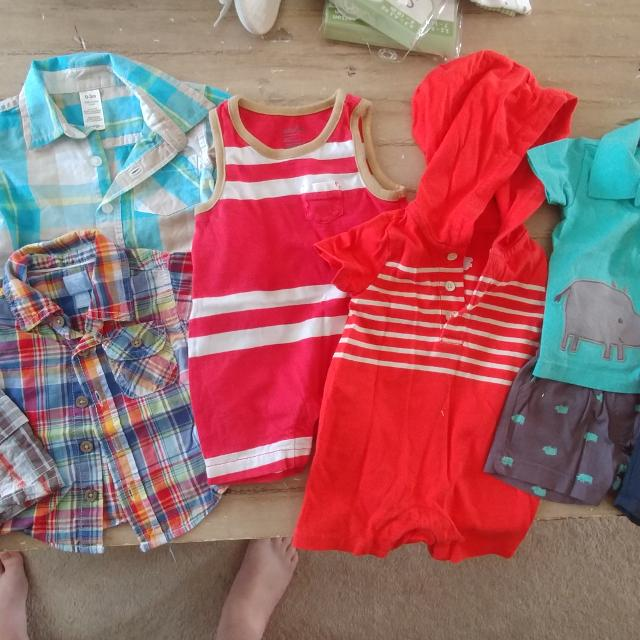91519cc9365 Best Eeuc Lot Of Baby Boy Summer Clothes 0-3 Mths (9 Pieces) for sale in  Clarington