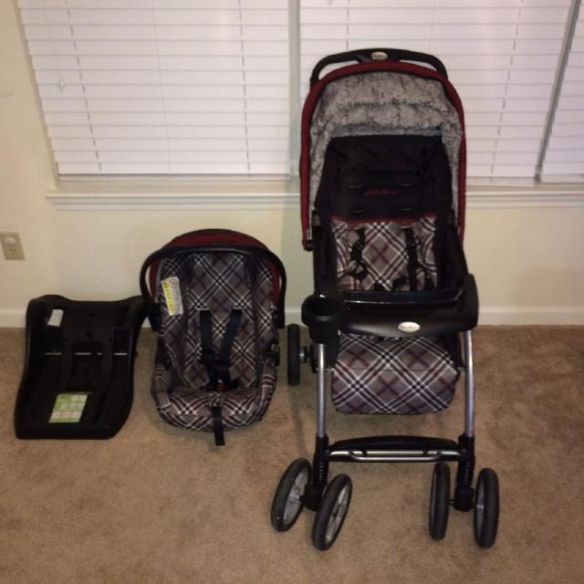 Eddie Bauer Trailmaker Travel System Sinclair Print Comes With Car Seat Base
